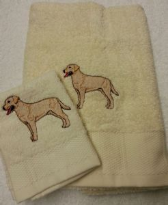 LABRADOR PERSONALISED TOWEL SET